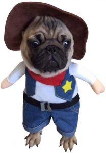 Disfraz vaquero perro
