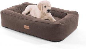 Cama perro marrón