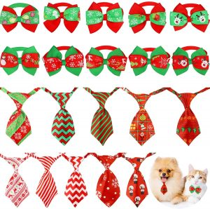 Corbatas y pajaritas Navidad perro