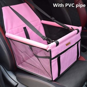 Silla coche rosa perro