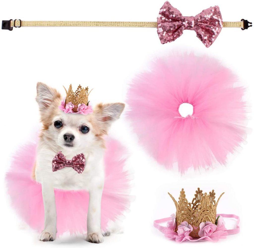 Accesorios cumpleanos rosa perro